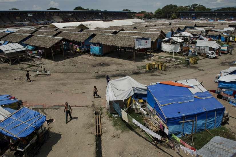 Campamento de refugiados en Zamboanga, Filipinas