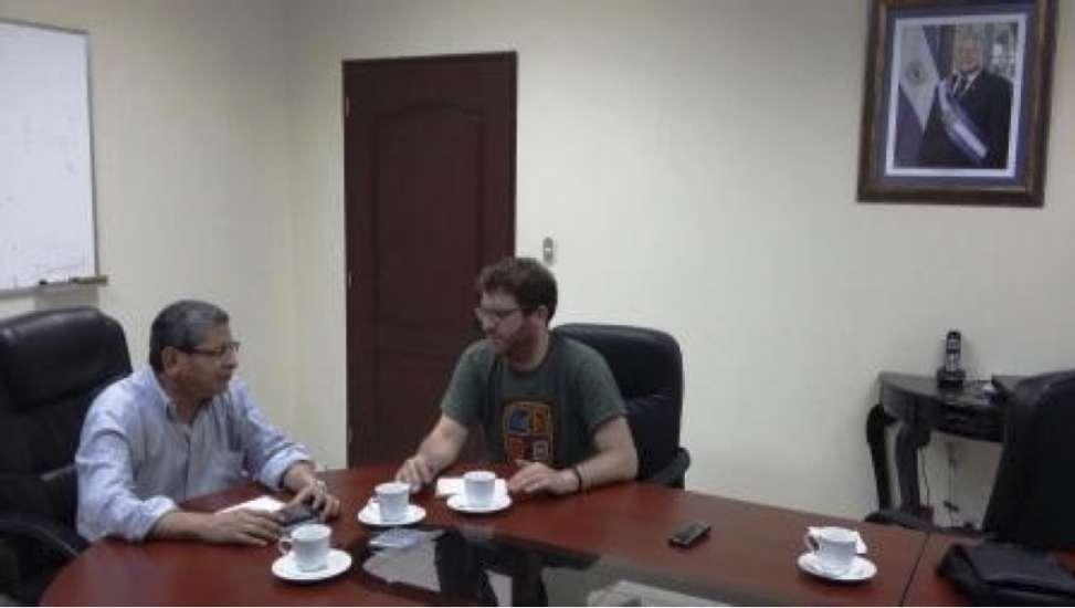 Reunión con Javier Martínez, Viceministro de Seguridad