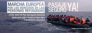 Marcha europea por los derechos de las personas refugiadas
