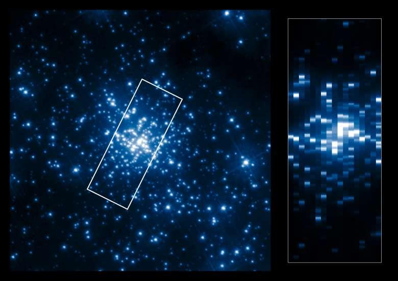 Pseudo imagen de R136. © ESA/Hubble, NASA, K.A. Bostroem (STScI/ UC Davis)