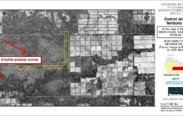 Imagen vía satélite del Chaco paraguayo. Febrero de 2016. © GAT